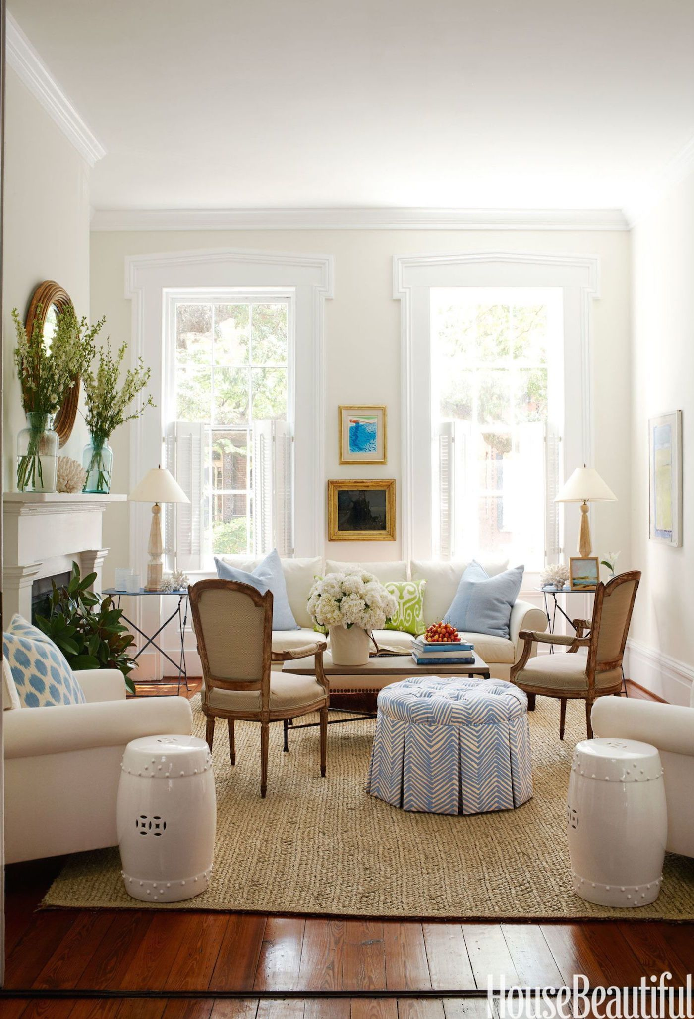 11 Ways to Pull Off a Clean White Living Room | Glamour, Living ...