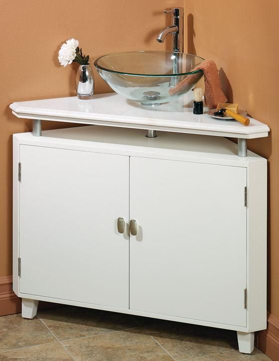 Use as alternate corner sink idea... with different basin, shelf ...