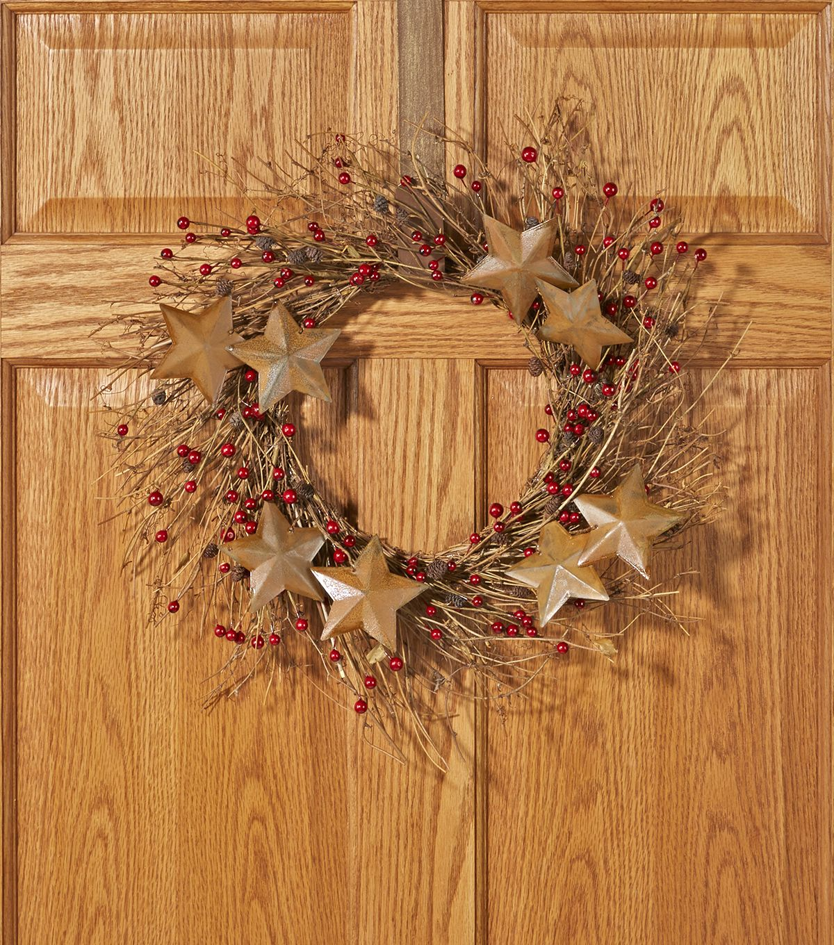 Brown Star & Red Berry Wreath Brown Star & Red Berry Wreath ,