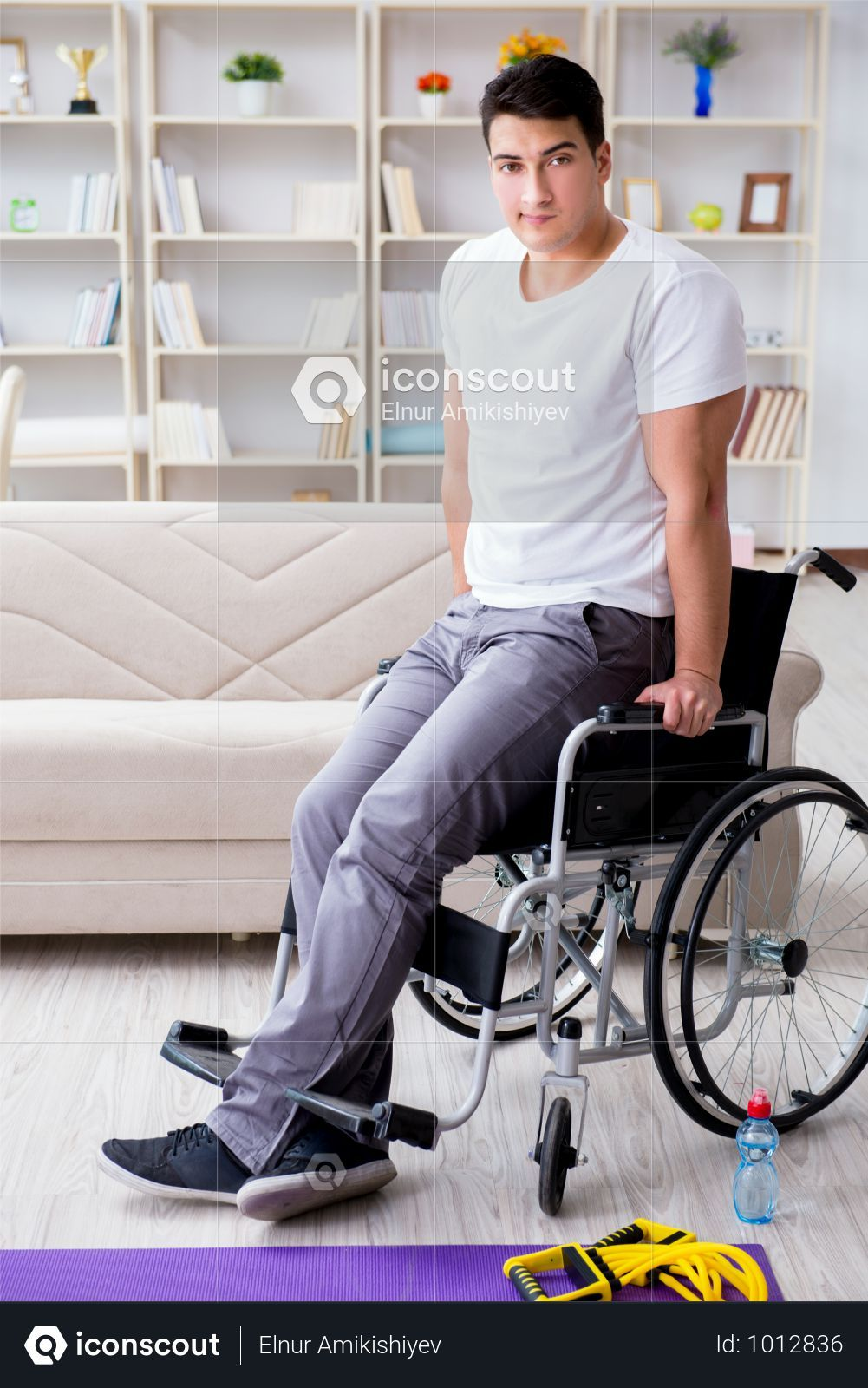 Premium Disabled Man Recovering From Injury At Home Photo Download In Png Jpg Format Home Photo Injury Medical Photos