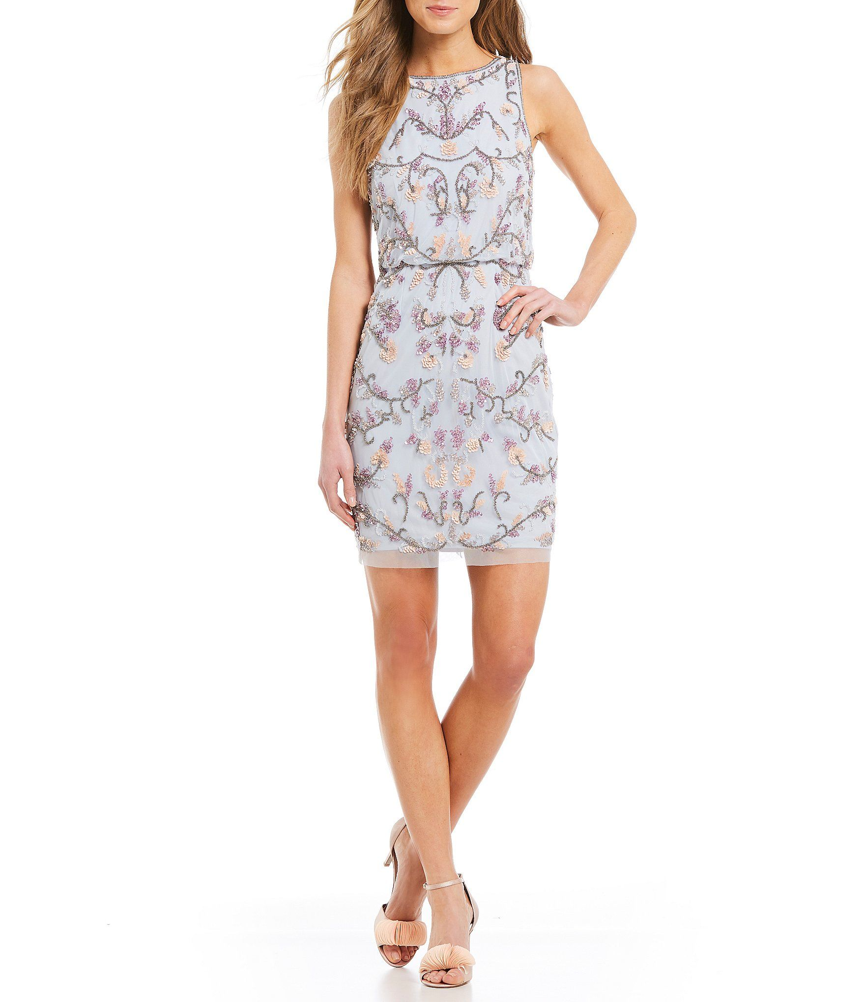 37353f265667 Adrianna Papell Petite Floral Beaded Dress in 2019 | Dresses ...