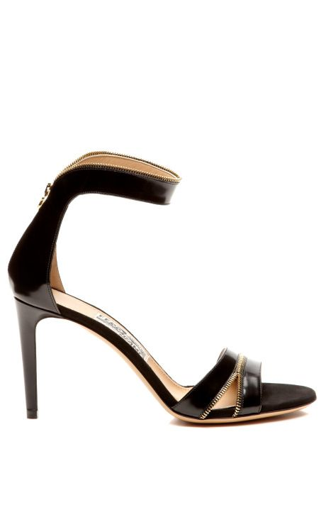 Ronette Leather and Zipper-Detail Sandals by Salvatore Ferragamo