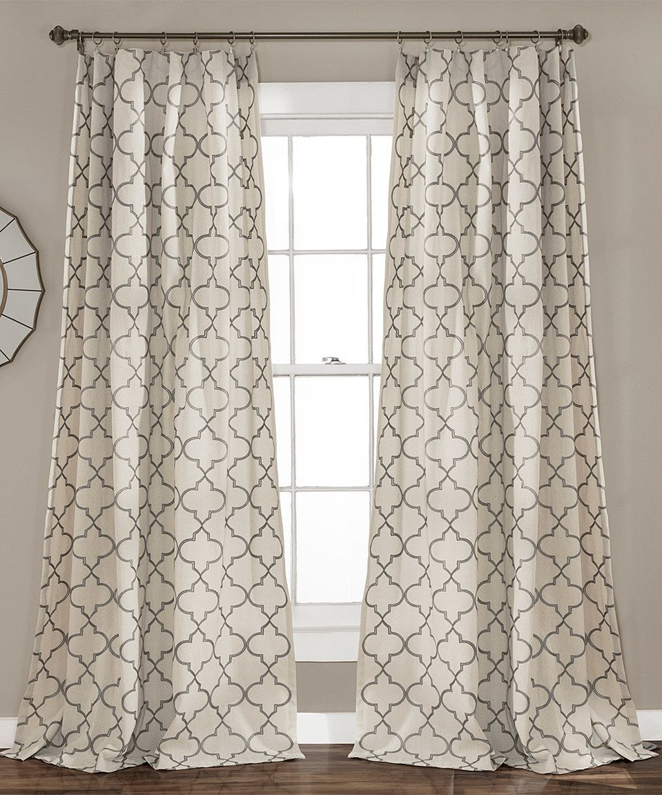 Another Great Find On Zulily Gray Geometric Curtain Panel Set