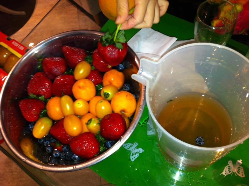 Clean your fruits and vegetables in Kangen Water to reduce the chemicals on your food.