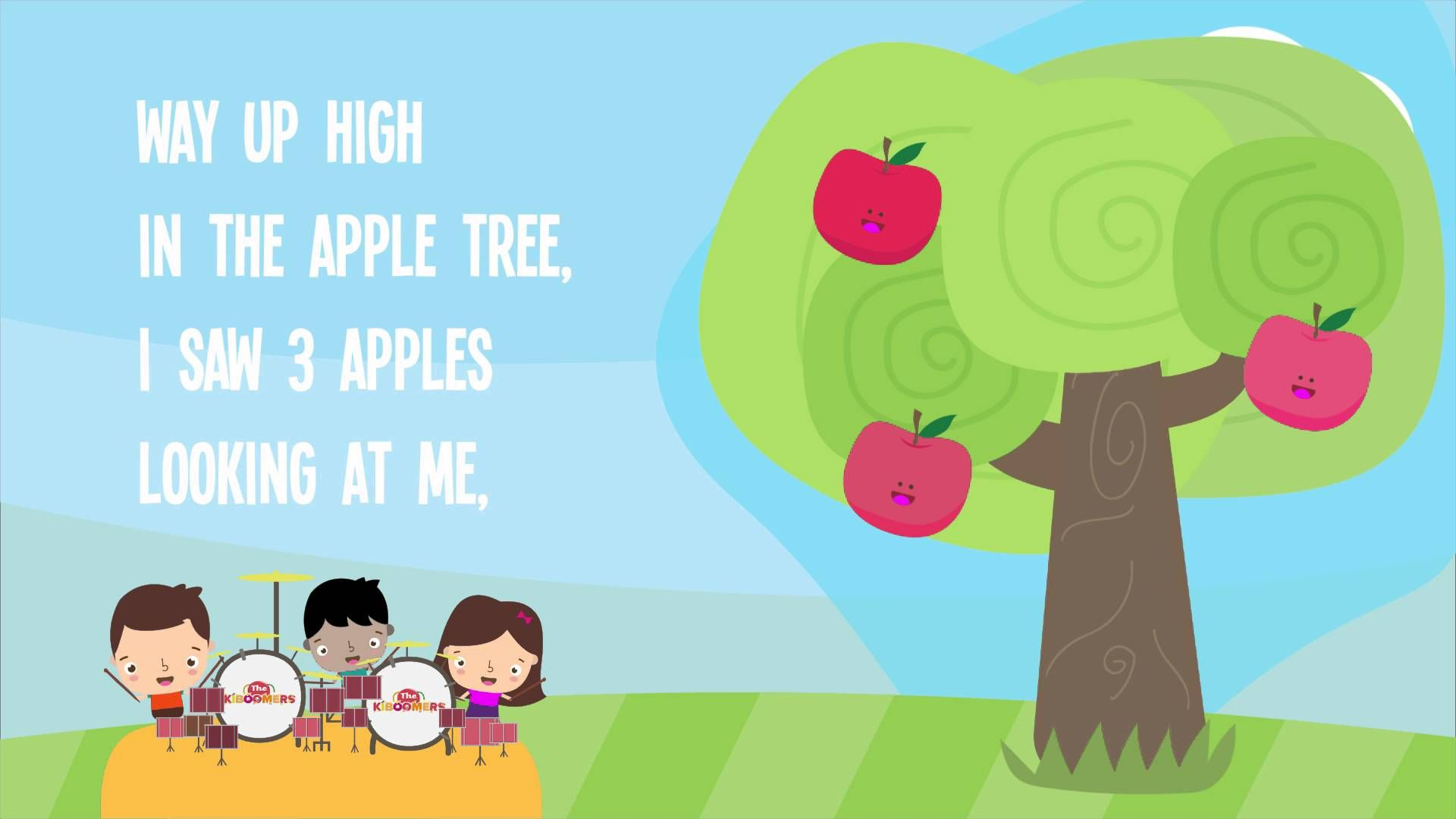 Five apples song for kids 5 apples way up high five