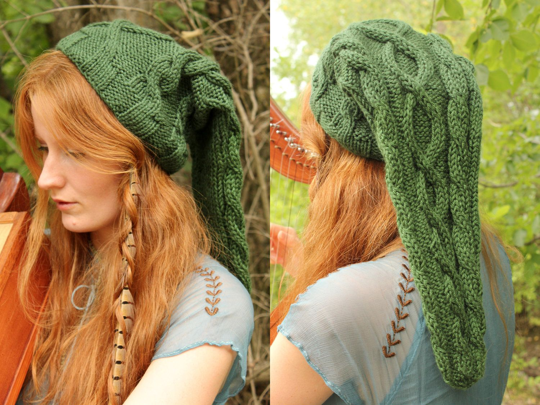 Heroic Green Cable-Knit Legend of Zelda Link Inspired Hat ...
