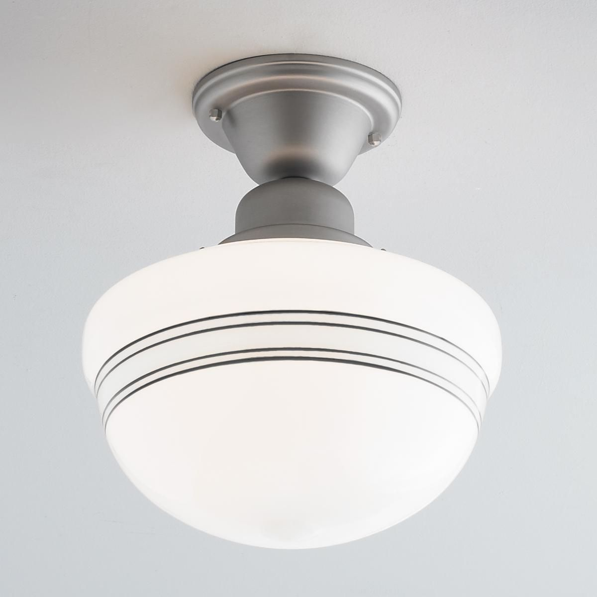 sku seeded light house school pendant ceiling schoolhouse polished glass clear one chrome
