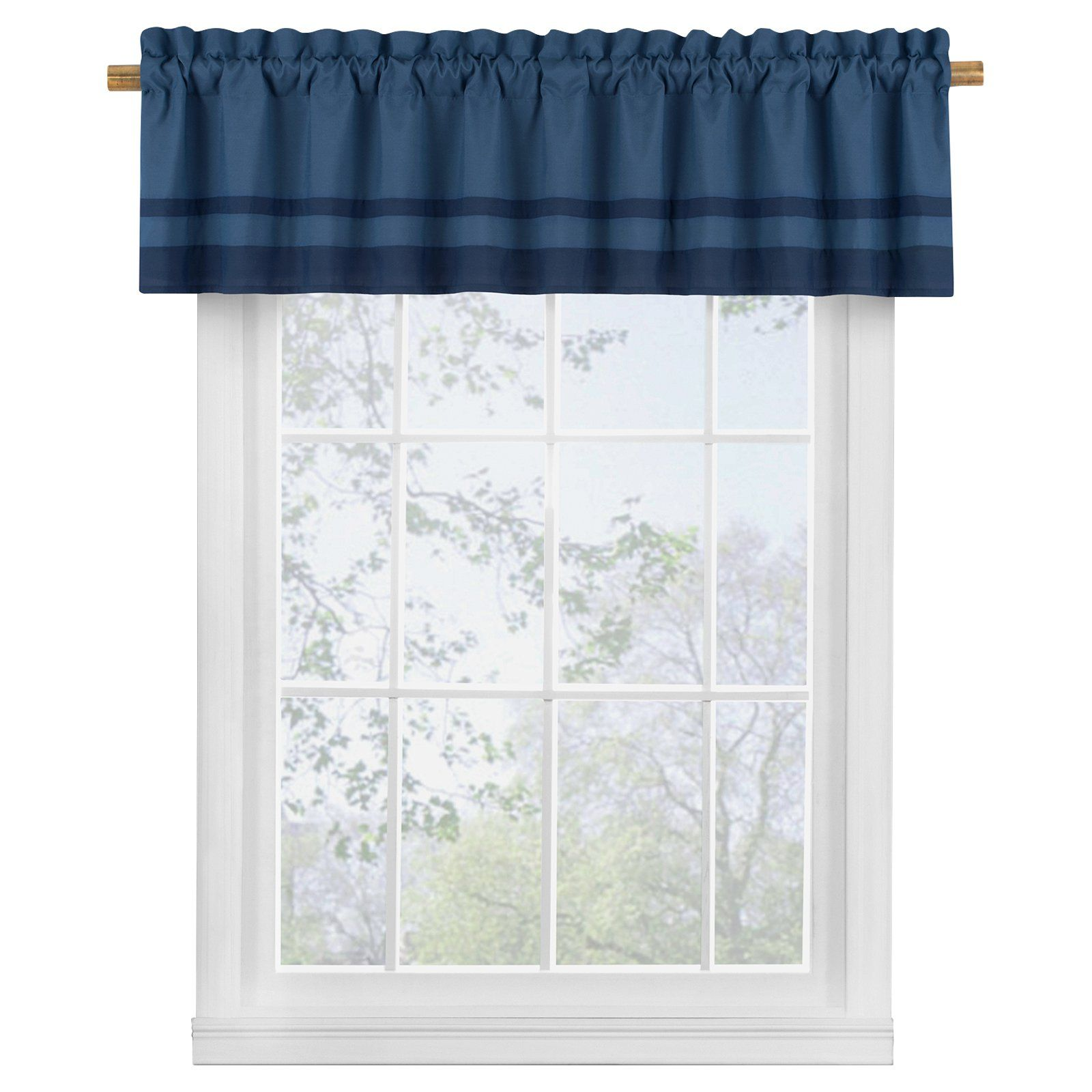 Bensonhurst Window Valance By Vue Signature Blue In 2019 Valance