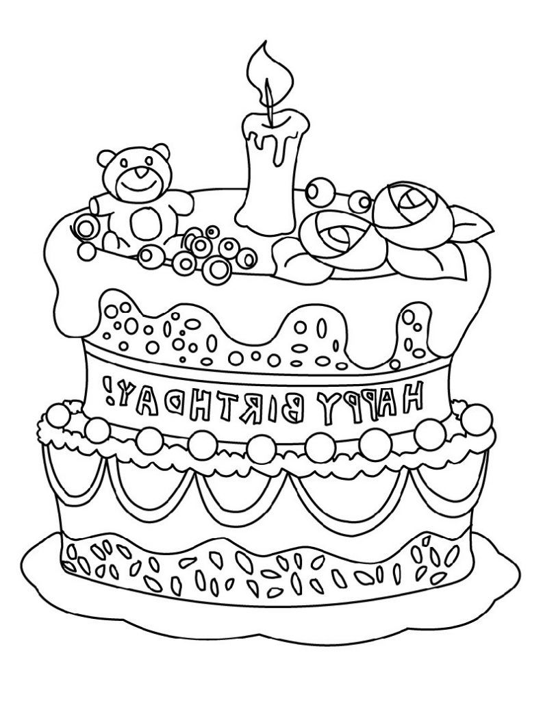 Discover lovely happy birthday coloring pages that are