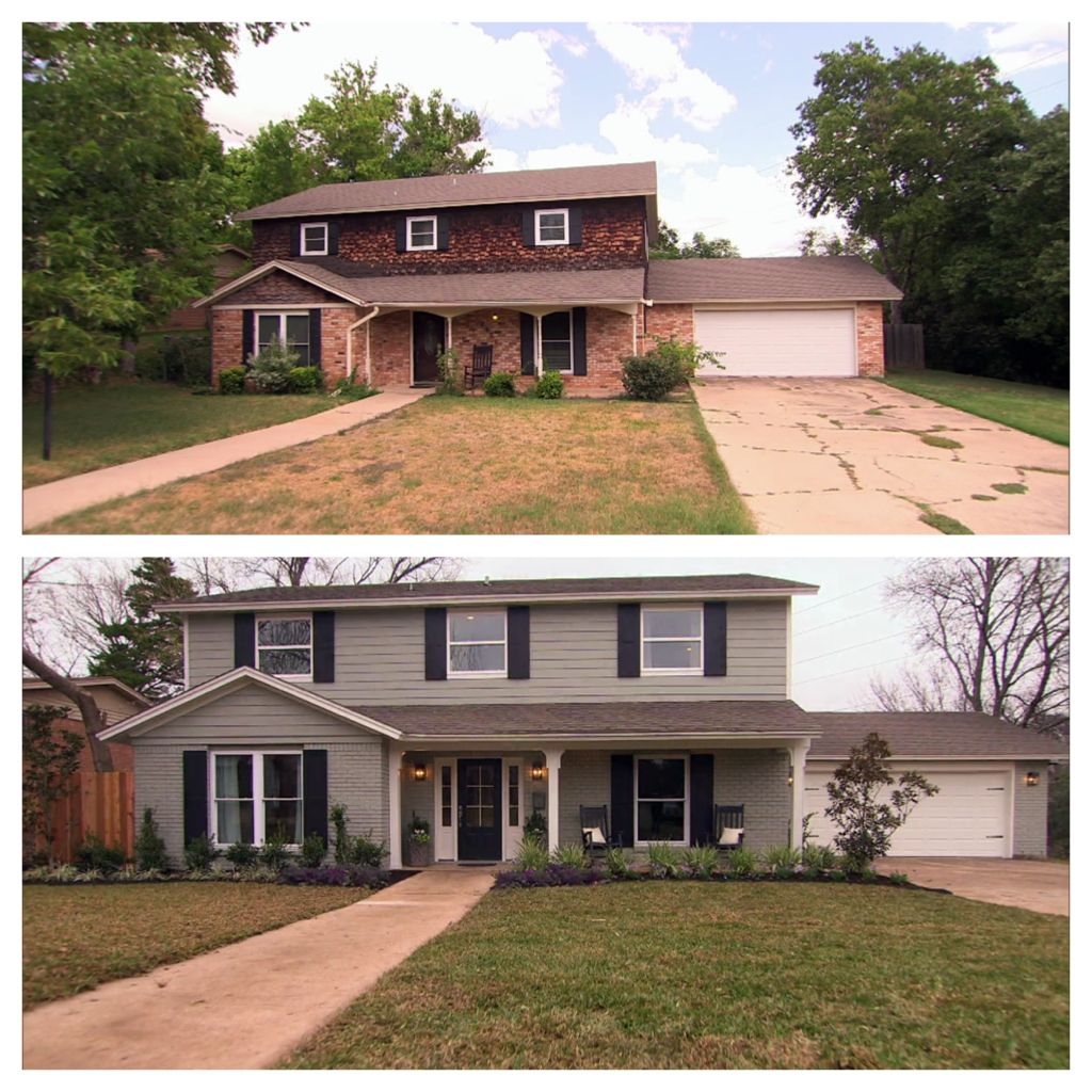 70s Home Exterior Remodel: Curb Appeal Before After Fixer Upper