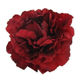 Silk flowers one fabulous jumbo peony in deep red 6 inches too add beautiful botanic artistry peony spray to swags garland and floral arrangements for length and color the spray has one flower that measures about in mightylinksfo