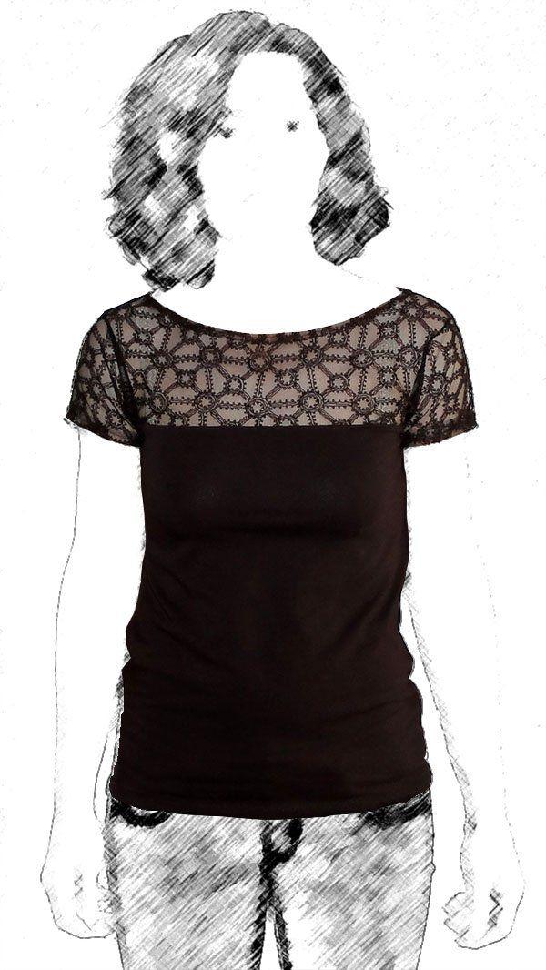 Spitzen-Shirt | Pinterest | Shirts, Nähen und Nähideen