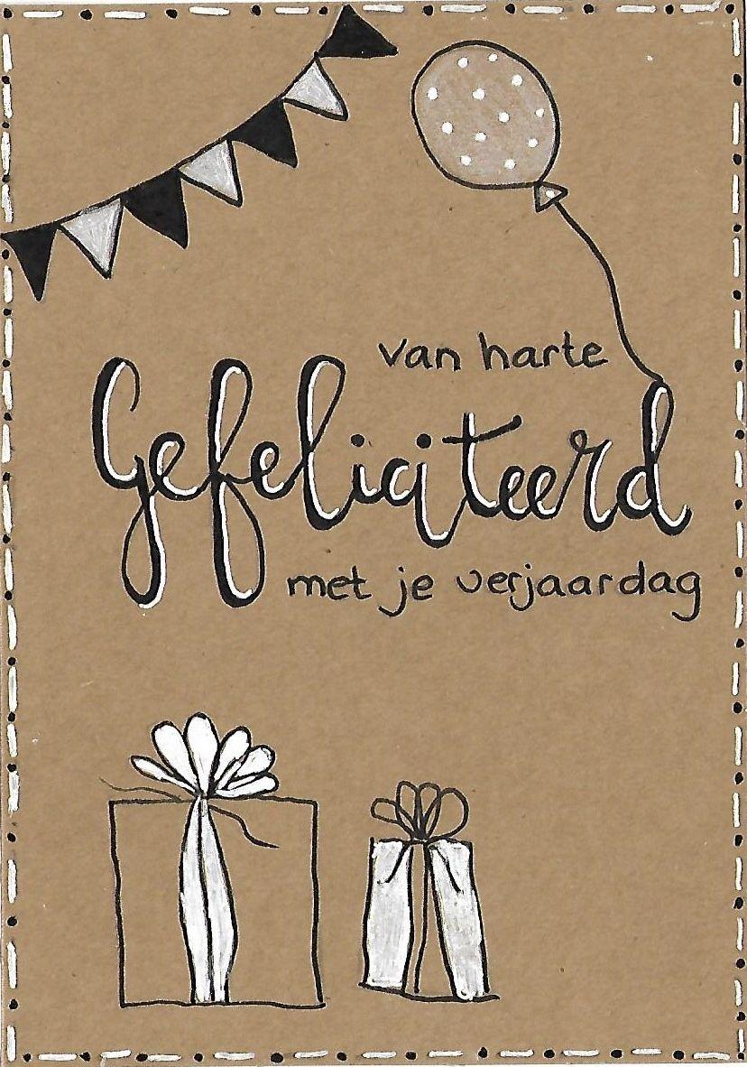 Gefeliciteerd Met Je Verjaardag Made By Klazina Smitsman Verjaardagskaarten Verjaardag Kaarten Kaart Ontwerp