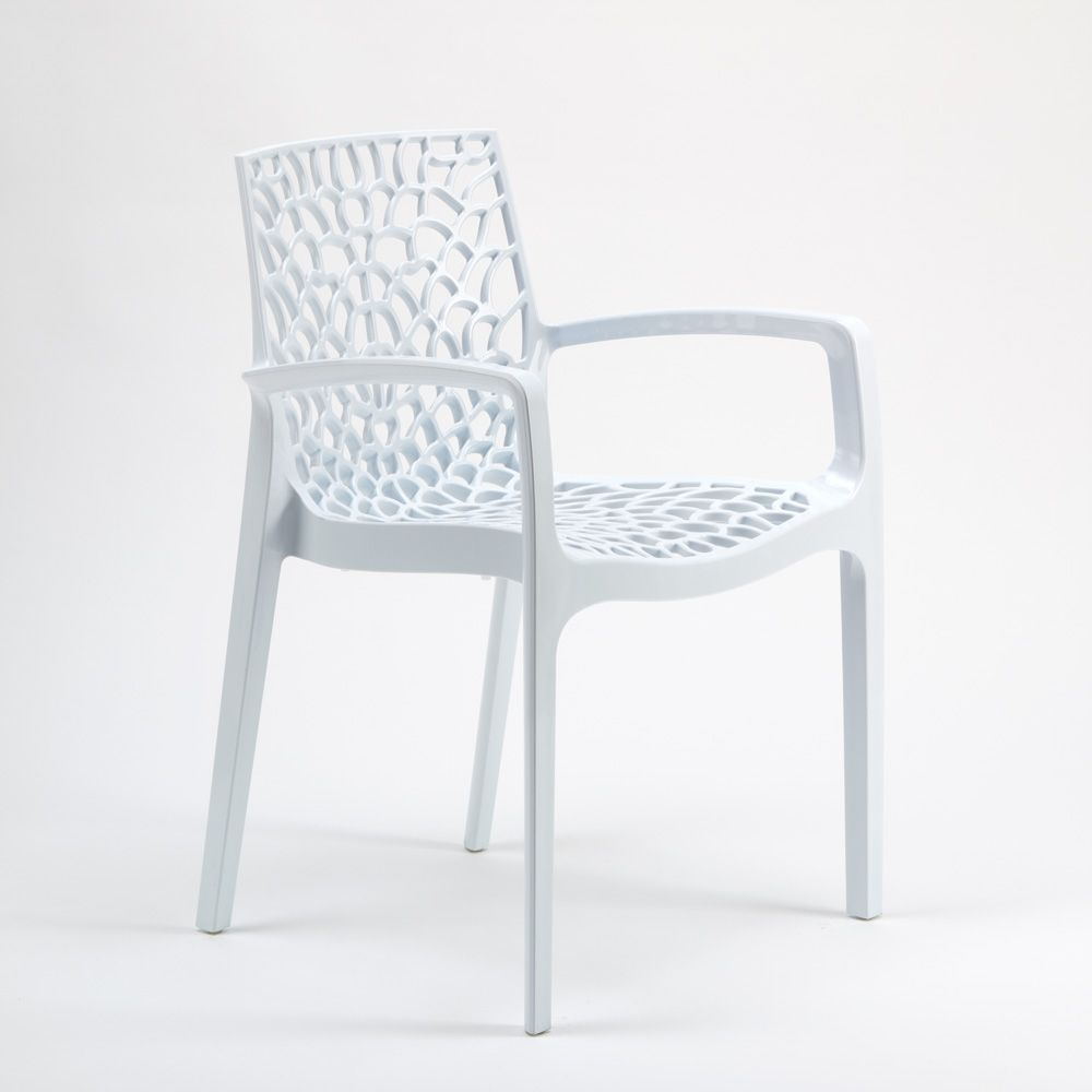 Design Chair Made in Italy with Armrests in Polypropylene