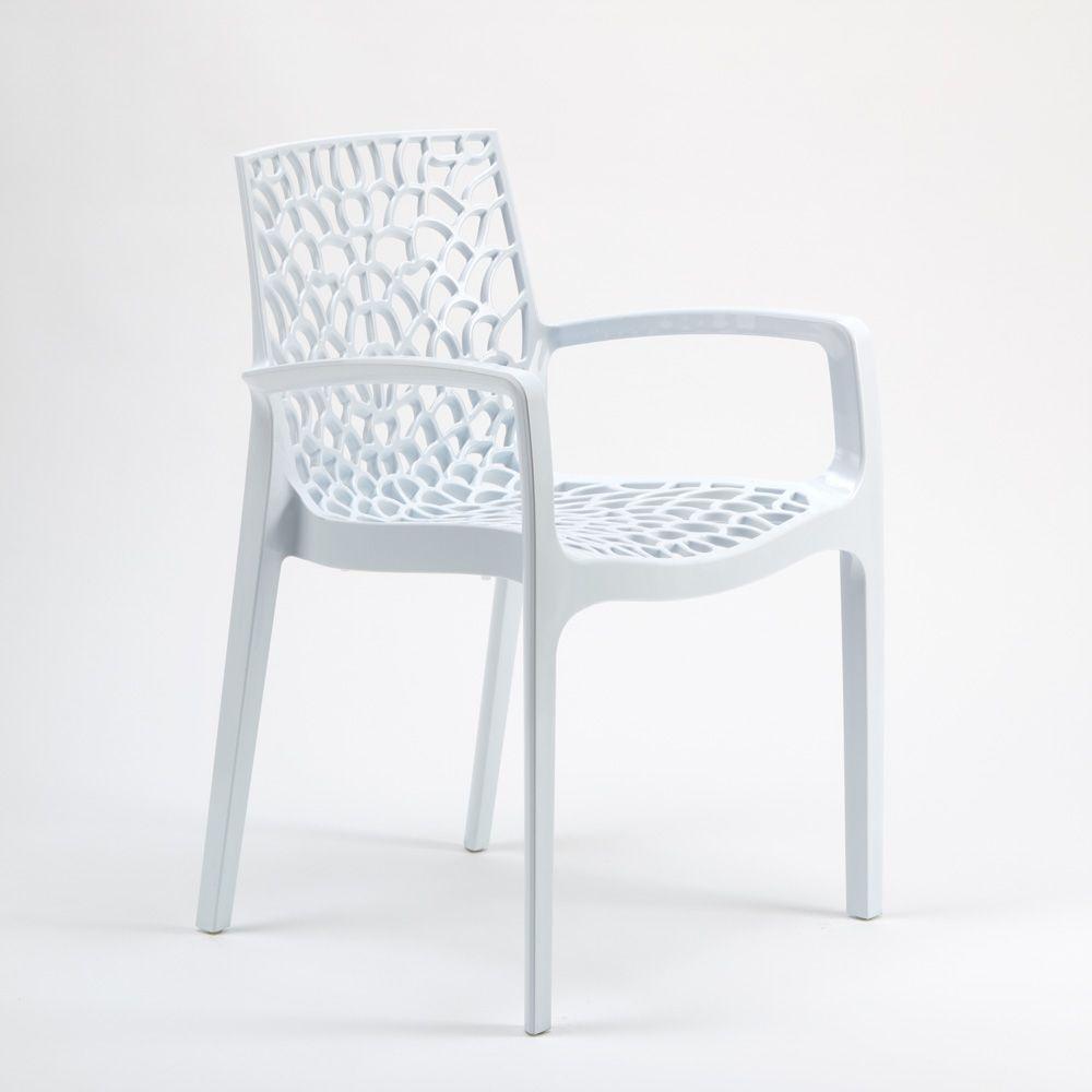 en polypropylène accoudoirs café pour Chaise avec jardin lK1FJuTc3