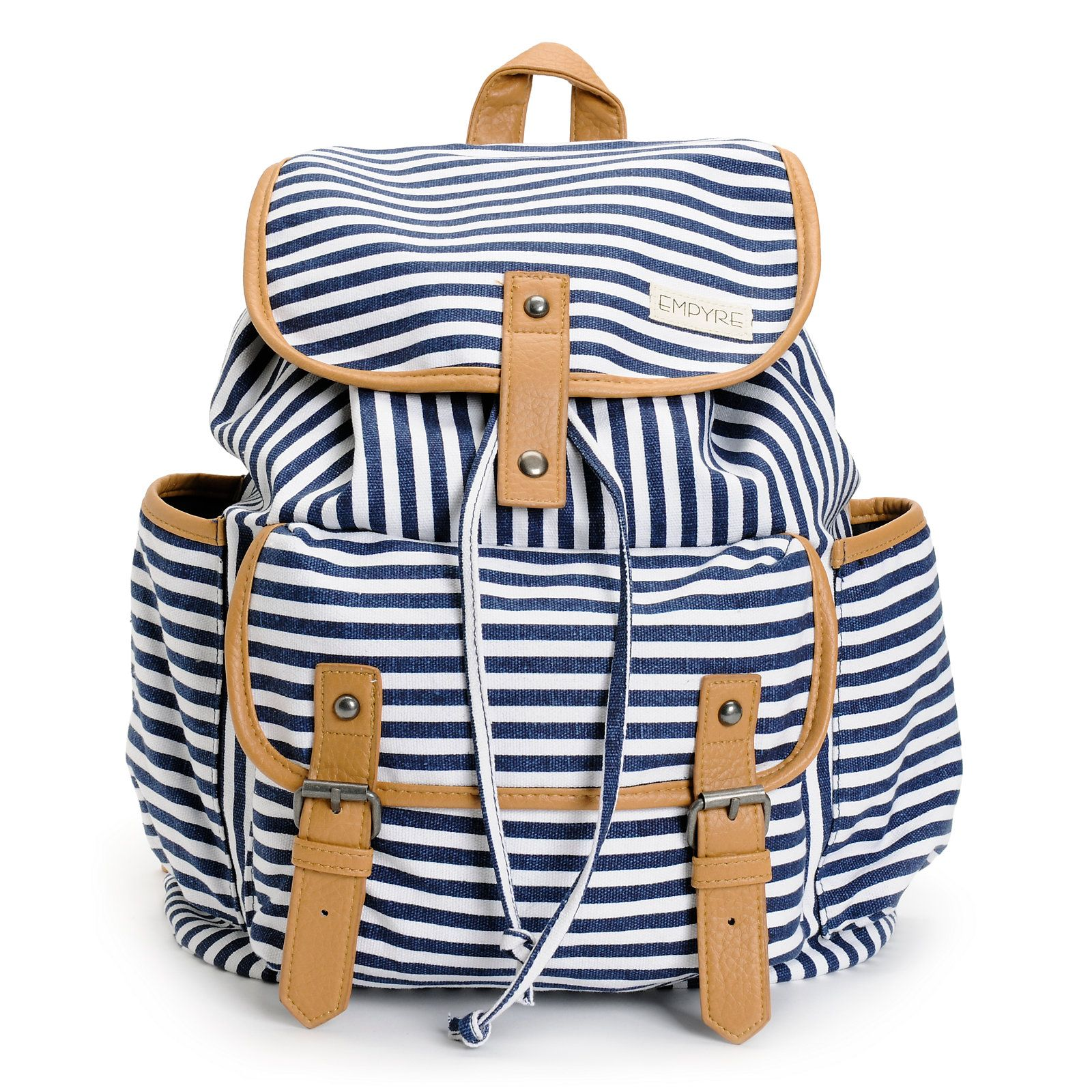 c65902d7a8 Empyre Emily Navy Stripe Rucksack Backpack