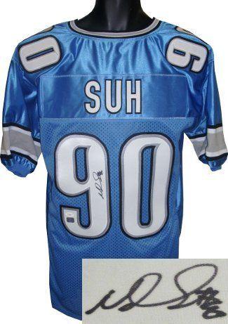 Ndamukong Suh signed Detroit Lions Blue Prostyle Jersey JSA