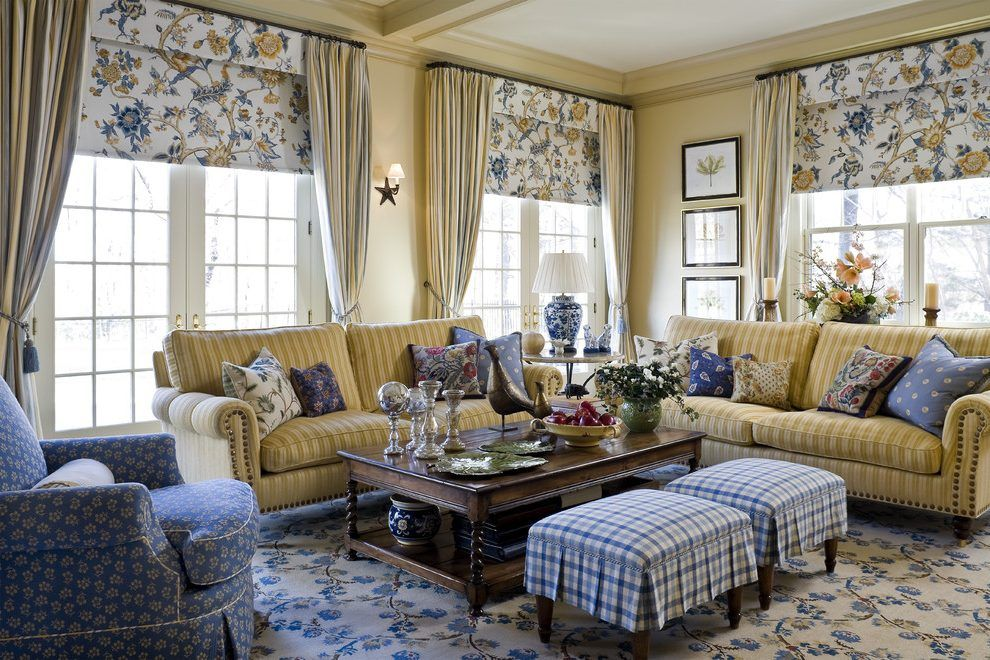 Best French Country Blue And Yellow Decor Living Room 400 x 300