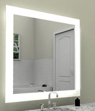 Photo Image The Celestino Lighted Mirror remains a classic favorite With its border of frosted light Bathroom
