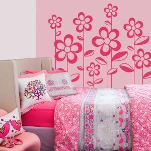 Tienes decorada tu habitaci n con motivos florales y for Vinilo decorativo para habitacion