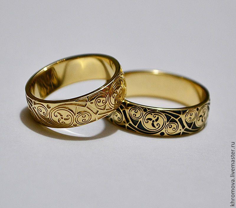 559bc0f6d4df Свадебные украшения ручной работы. Ярмарка Мастеров - ручная работа  Обручальные кольца с кельтским узором. Handmade.