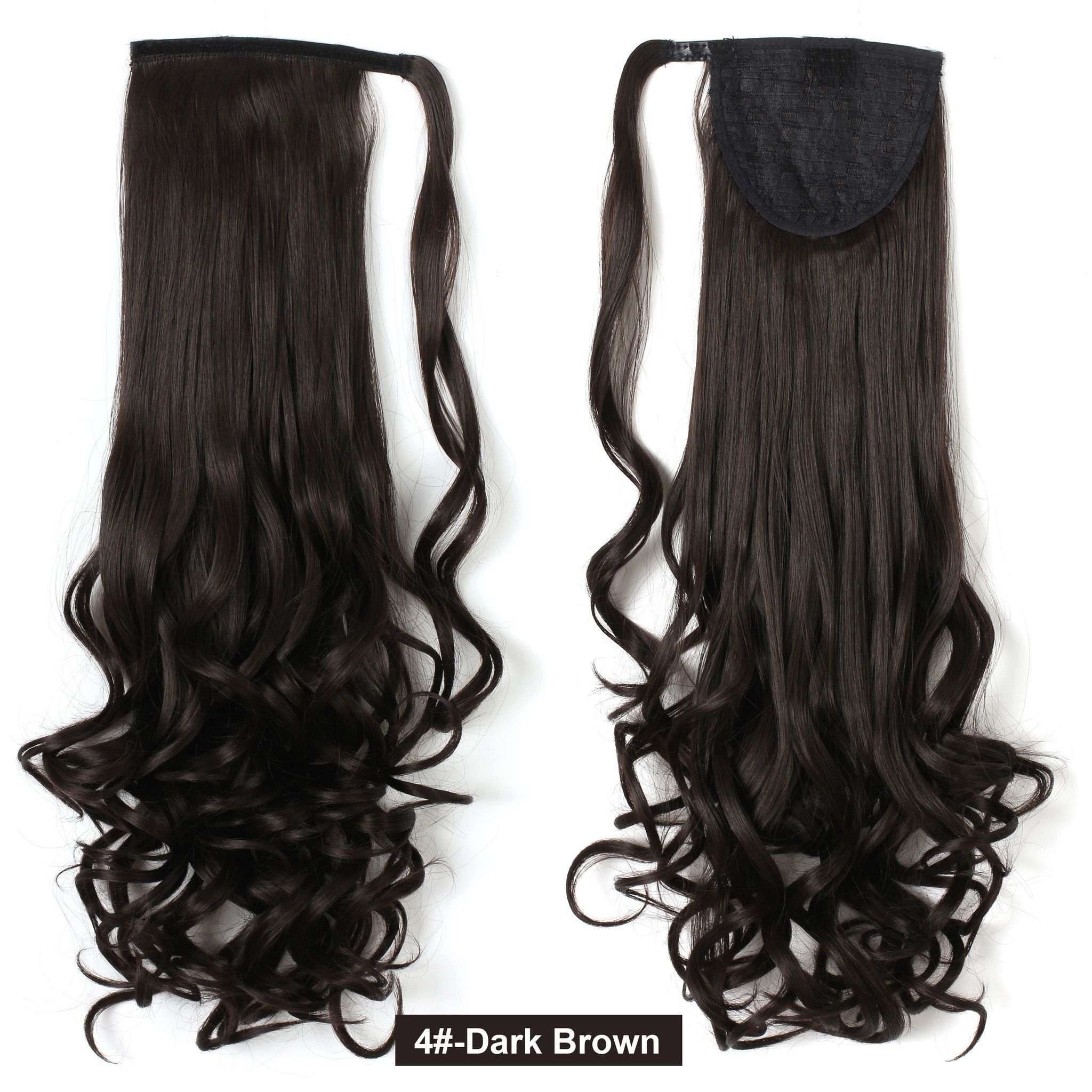20 Long Curly Wrap Around Ponytail Hair Extension Synthetic