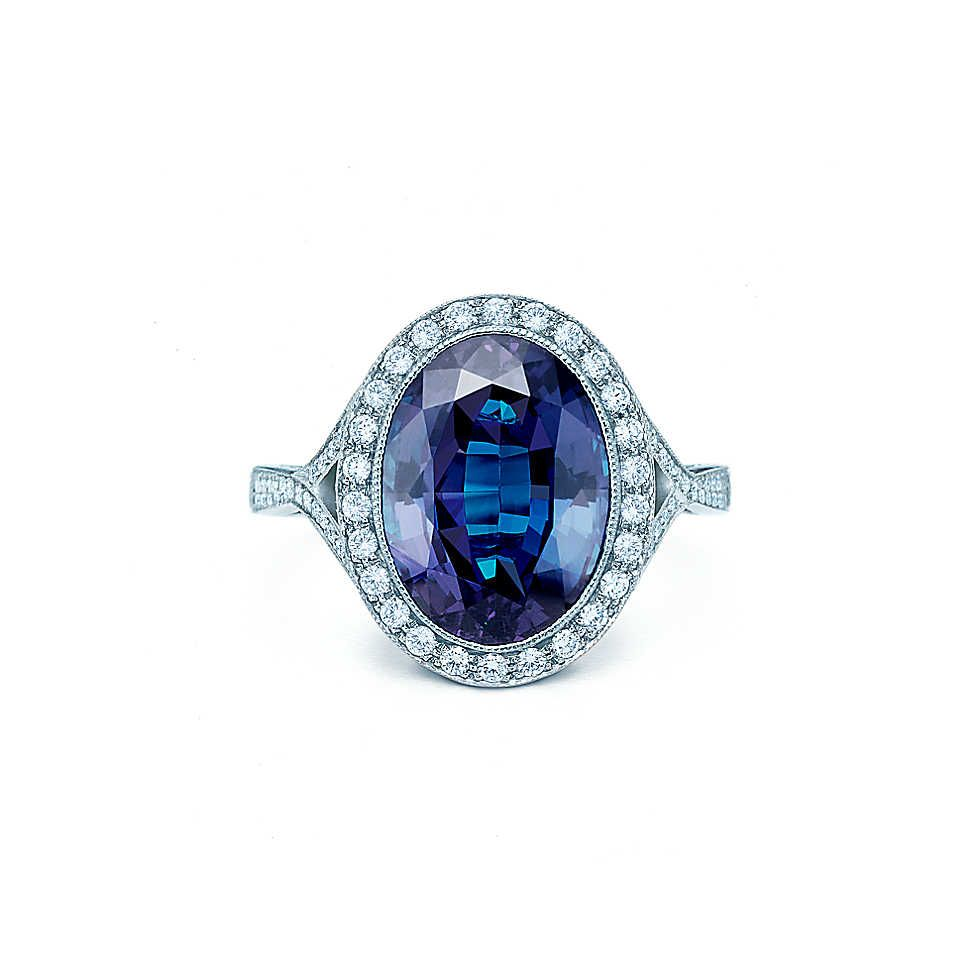 bc6f9c582 Tiffany & Co. - Alexandrite andDiamond Ring -- what a shame they don't use  alexandrite anymore. wowza