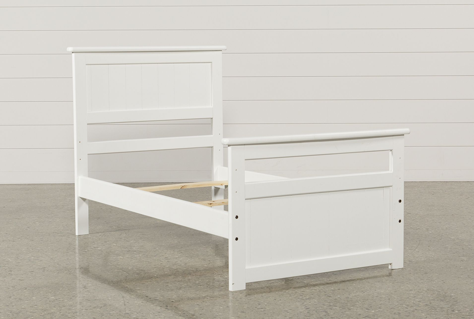 Summit White Twin Panel Bed Panel bed, Bed, Storage design