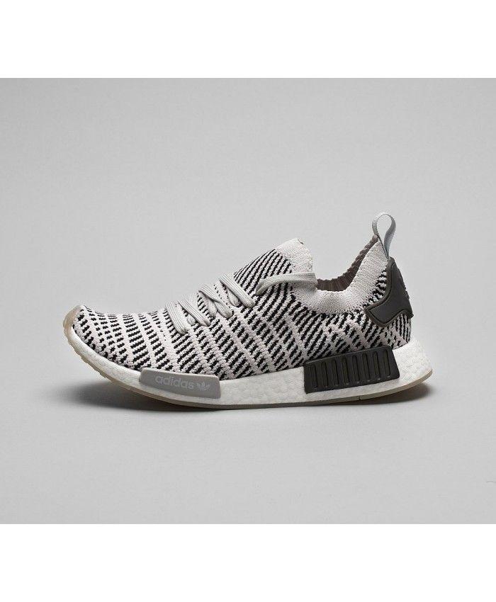 free shipping ded8f 739ba Cheap Adidas Originals Nmd R1 Stlt Primeknit Trainer Grey Grey Core Black  Sale UK