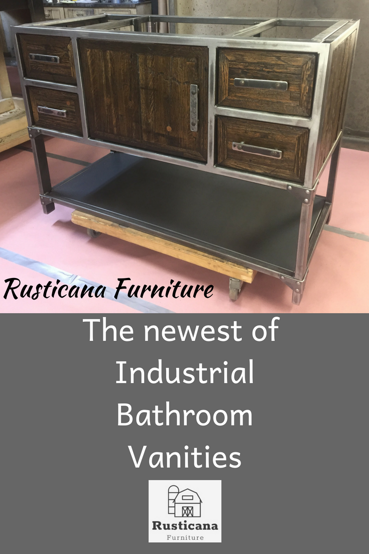 This Is A Beautiful Custom Welded Steel Bathroom Vanity Custom Sizes Are Available Give Us A Call Cu Bathroom Vanity Industrial Bathroom Vanity Furniture