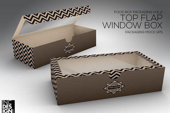 Download Top Flap Window Box Packaging Mockup Food Box Packaging Box Packaging Packaging Mockup