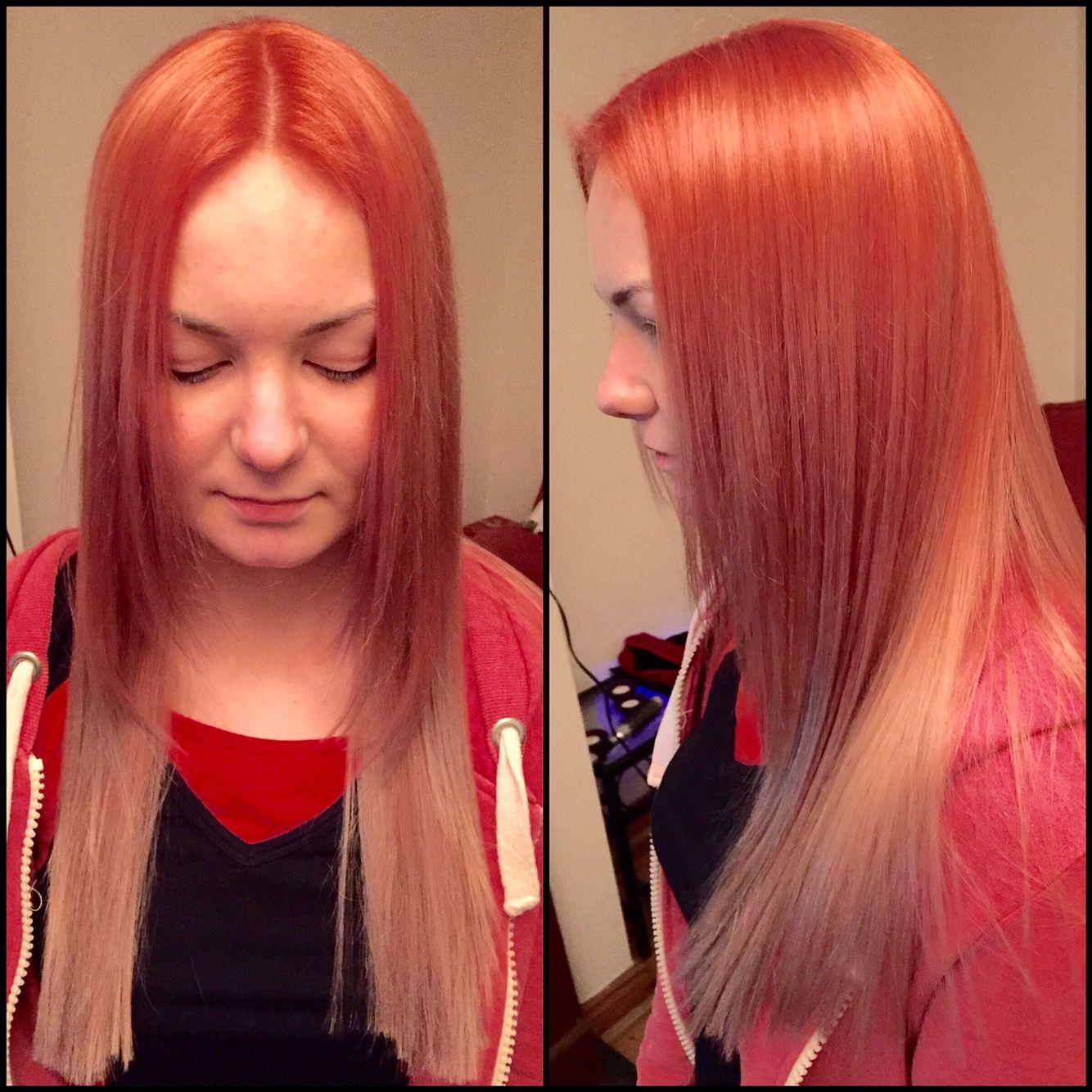 Ballayage Blond se rapportant à strawberry rose and blonde ombré, ballayage | hairi <3