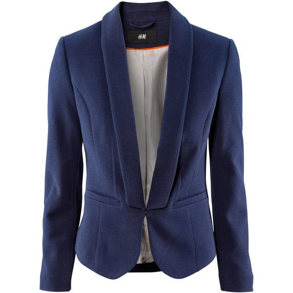 H&M Jacket (£15) ❤ liked on Polyvore featuring outerwear, jackets, blazers, tops, h&m blazer, pocket jacket, blazer jacket, fleece-lined jackets and h&m jackets
