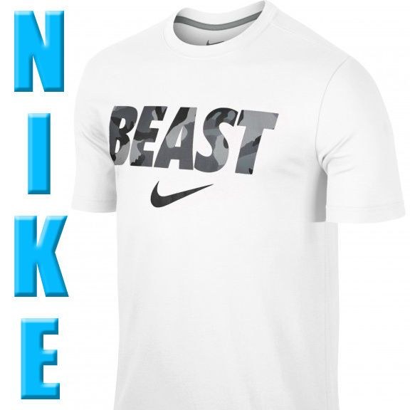 Nike Dri-Fit BEAST Camo Training Shirt White/Grey SIZE X LARGE #Nike #ShirtsTops