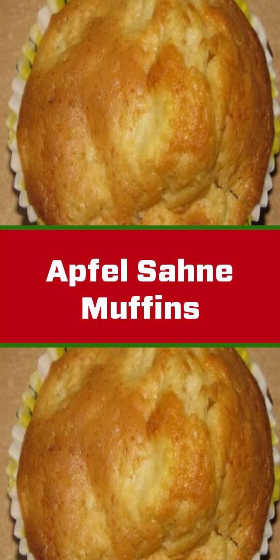 Apfel Sahne Muffins