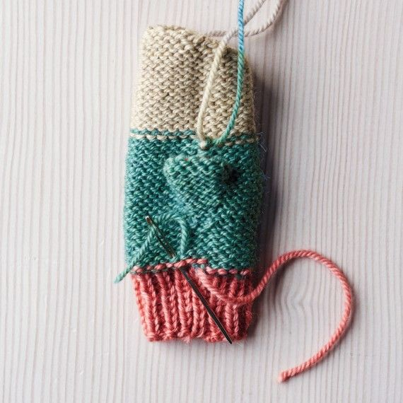 How To Knit Playful Mittens Using Leftover Yarn Knitting