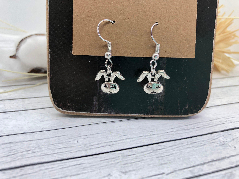 Bunny Earrings Easter Bunny Earrings Bunny Jewelry Easter Basket