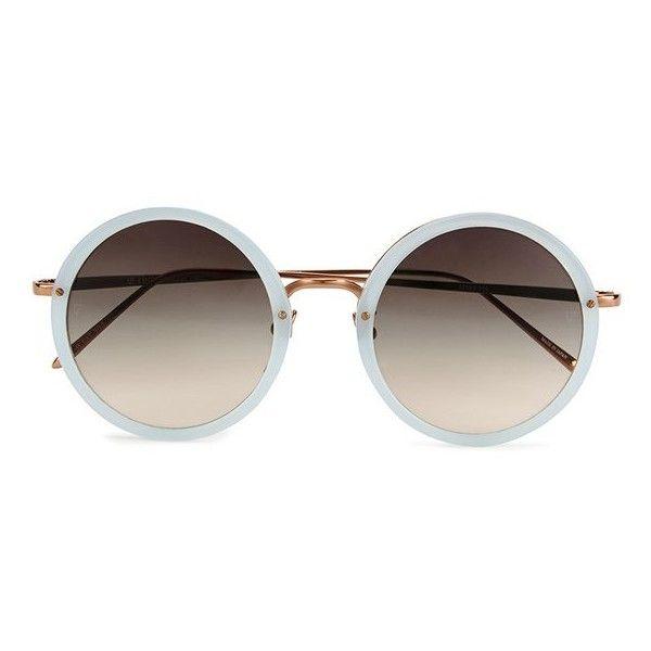 d5018cd031c27 Linda Farrow Women s Round Matt Sunglasses with Grey Lens - Iris (4.308.260  IDR · Óculos De Sol De Armação RedondaVidro ...