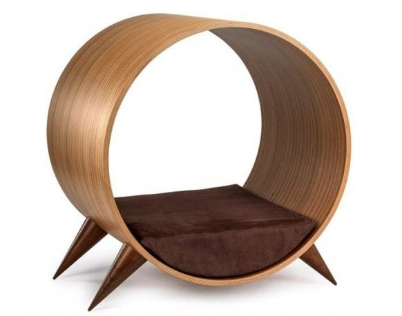 Lit Design En Zebrano Pour Chien Et Chat Giotto Meuble Canape Pour Chien Canape Lit Design