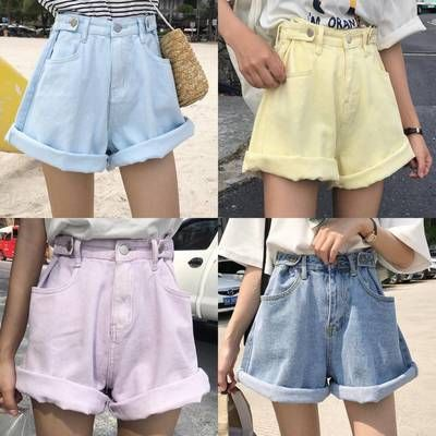 Fashion Candy Color Cowboy Shorts from Fashion Kawaii [Japan & Korea]