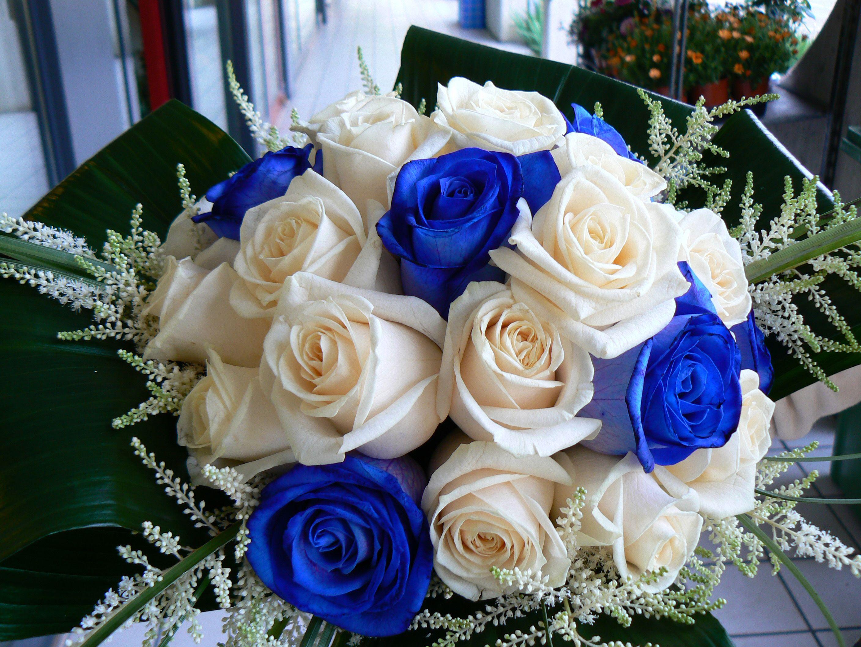 Bouquet Sposa 2018 Blu.Rosa Blu Rose Bouquet Matrimonio Wedding Fiori Blu Nozze