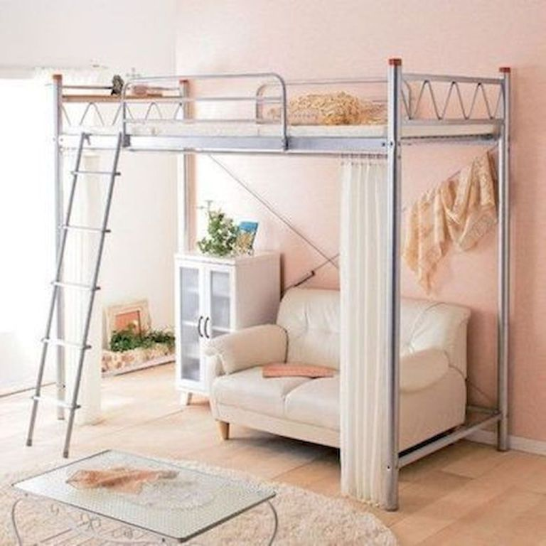 Small Bedroom Bunk Bed Ideas: 100+ Cute Loft Beds College Dorm Room Design Ideas For