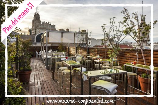 Cena y cine de verano en la azotea del Hotel de Las Letras | Madrid Confidential