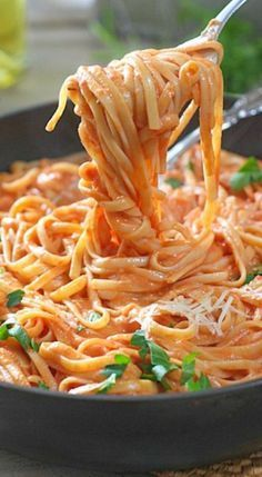 pasta with tomato cream sauce #tomatocreamsauces