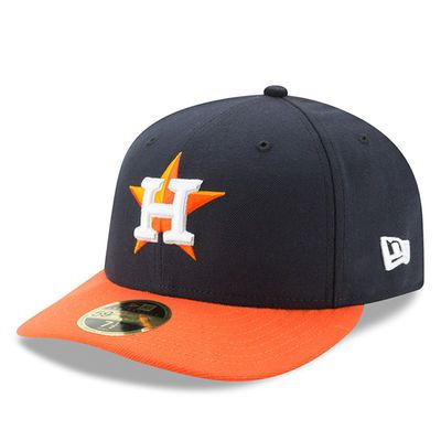 a417c282b04 Men s New Era Navy Orange Houston Astros Road Authentic Collection On-Field  Low Profile