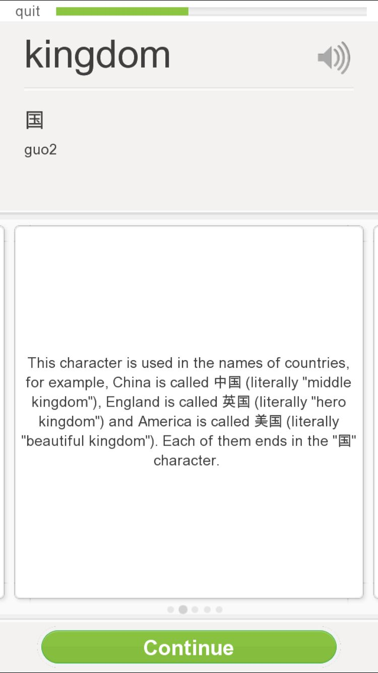 Chinese Character For Kingdom Pinying Guo With Third Accent