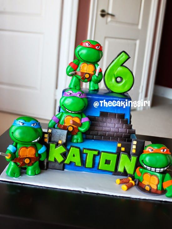how to make ninja turtle cake Birthdays Pinterest Ninja
