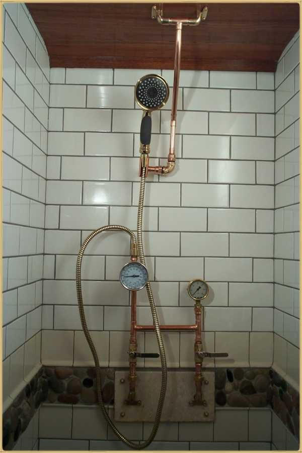 A Home Made Steampunk Shower I M Sure My Dad Could Build
