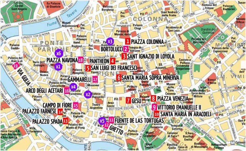 Imprimir Italia Lugares De Interes Mapa Monumentos Pdf