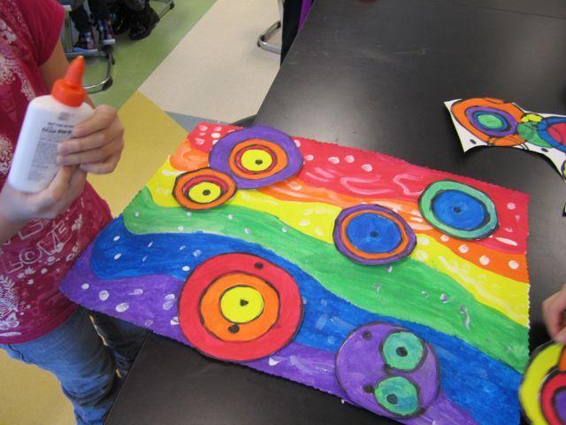 Kandinsky's circle painting | manualidades pintura | Pinterest ...